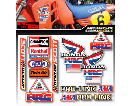 1995-96 CR 125-250CC TODD DEHOOP OF TROY KIT