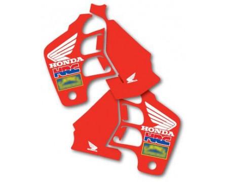 DECOS RESERVOIR PERFOREES ET OUÏES DE RADIATEUR TEAM US REPLICA HONDA 125 250 CR 1989