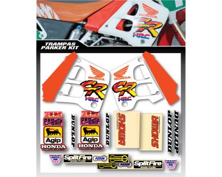 KIT DECO COMPLET GP PARKER REPLICA HONDA 125 250 CR 1991