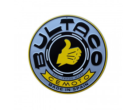 PLAQUE DECORATIVE BULTACO GRISE