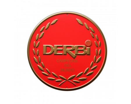 PLAQUE DECORATIVE DERBI