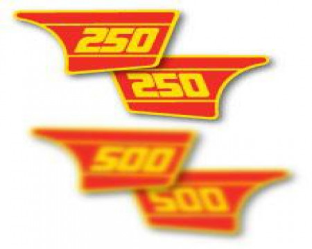 DECOS PLAQUES LATERALES MAICO 250 SC GME 1984