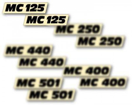 DECOS PLAQUES LATERALES MAICO 125 SC GME 1984