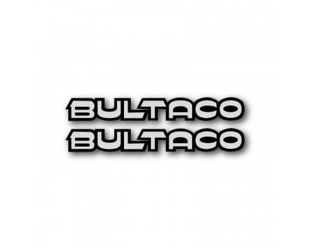 LOGOS DECO BULTACO BANDEAU NOIR ET GRIS