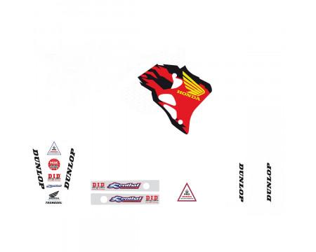 KIT DECO TECNOSEL TEAM HONDA 1995 USA CR250 (1995-1996)