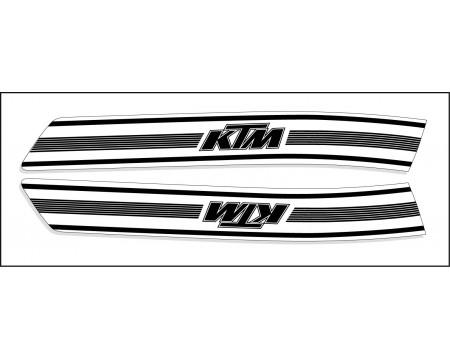 DECO RESERVOIR KTM 74/76  BLANC ET NOIR