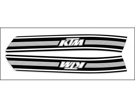 DECO RESERVOIR KTM 74/76 NOIR ET BLANC