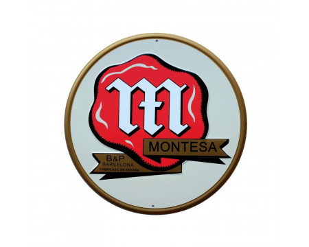 "PLAQUE DECORATIVE ""B&P"" MONTESA"