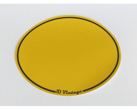 FOND DE PLAQUE ADHESIF OVALE JAUNE ( Type A )