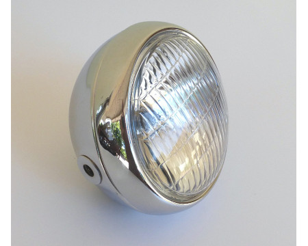 PHARE ROND SCRAMBLER/TRAIL/TRIAL CHROME Ø 145 mm