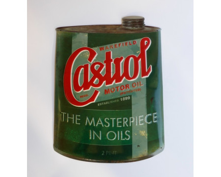 PLAQUE DECORATIVE BIDON CASTROL