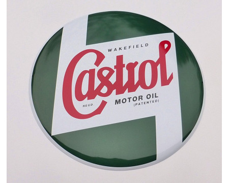 PLAQUE DECORATIVE CASTROL BOMBEE
