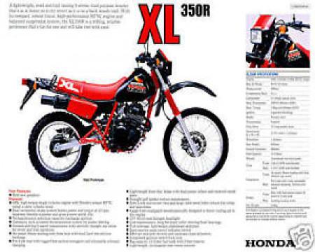 HOUSSE DE SELLE POUR HONDA XL350R  85