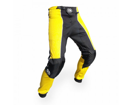PANTALON TRIAL NOIR/JAUNE UP AND OVER